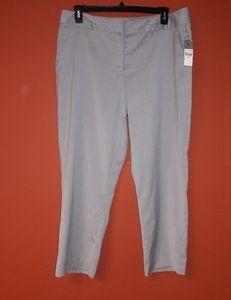Worthington silver gray cropped pants